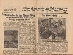 Journal UNTERHALTUNG - Dortmunder Zeitung N°346 Drittes Blatt Montag. Den 29.08.1935, 4 Pages - Otros