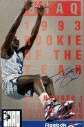 Affiche Basket Reebok 1993 Avec Signature Imprimée Du Basketteur  NBA Number 1 - Shaq 1993 - Rookie Of The Year - Afiches