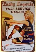 PIN-UP CAR REPAIR - TIN SIGNS - Plaque Métallique Publicitaire Décorative - Advertising (Porcelain) Signs