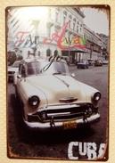 CUBA CHEVROLET CAR - TIN SIGNS - Plaque Métallique Publicitaire Décorative - Plaques Publicitaires