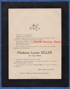 Document De 1945 - TREMONT Sur SAULX ( Meuse ) - Mme Lucien KELLER Née Cécile D'HIEUX - Familles GOMEL LUSSIGNY CHANEY - Overlijden