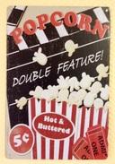 POP CORN - TIN SIGNS - Plaque Métallique Publicitaire Décorative - Advertising (Porcelain) Signs