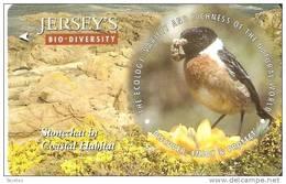 JER-173 TARJETA DE JERSEY STONECHAT   (57JERC)   PAJARO-BIRD - [ 7] Jersey Y Guernsey