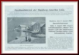 ★★ METEOR I ODDA. TELEGRAM 1907 ★★ Nordlandfahrt Hamburg-Amerika-Linie , ODDE , Telegramm Drucksache  NORWAY ★★ - Norvège