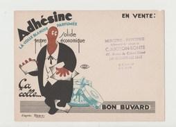 BUVARD ADHESINE La Colle Blanche Parfumée - Tampon Mercerie Papeterie C. MIGEON-BONTE à LAMBERSART-LEZ LILLE - Stationeries (flat Articles)