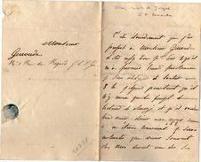 VP11.771 - Noblesse - LAS - Lettre De Mr Le Comte De JUIGNE à SIRAN - Autographs