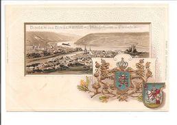 Bingen Und Bingerbrück. Wappen Präge Karte - Bingen