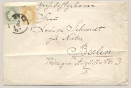 Österreich - 1883 - 2Kr + 3Kr Franz Joseph On Cover From Graz To Berlin - 1850-1918 Keizerrijk