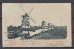 """Niederland 1899 Fotokarte """" Rotterdam De Zeeven Molens"""" In Berlin Als Ortspostkarte Mit Packetfahrtmarke Verwendet - Periode 1891-1948 (Wilhelmina)"""