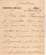 VP11.772 - Noblesse - LAS - Lettre De Mr Le Comte De SALVERTE à Coudrée ( SCIEZ ? ) - Autographs