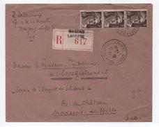 1946 - ENVELOPPE RECOMMANDEE Avec BANDE X3 GANDON De MAISONS LAFFITTE - Marcophilie (Lettres)