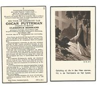 735. OSCAR PUTTEMAN  Echtg. C. Bormans - °LEBBEKE 1896  /  +MERCHTEM 1942 - Images Religieuses