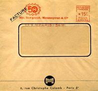 EMA Machine à Affranchir Havas CW Bergerat Monnoyeur Paris 1956 - Freistempel