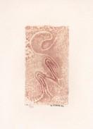 Daniel Vignal - Génuflexion 1 - Bois Gravé - 9 X 14,5 Cm Sur Feuille Canson 24 X 32 Cm, 1974 - Engravings