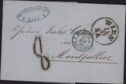 Autriche Vienne 1860 Marque D'entrée Bleue Autriche 2 Erquelines Taxe Tampon 8 - Marques D'entrées