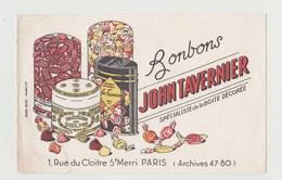 BUVARD Bonbons JOHN TAVERNIER Spécialiste De La Boite Décorée - Cake & Candy