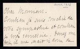 VP11.773 - Noblesse - CLAS - Lettre De Mme La Comtesse De SARDELYS - Autographes