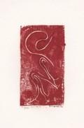 Daniel Vignal - Génuflexion 2 - Bois Gravé - 9 X 14,5 Cm Sur Feuille Canson 24 X 32 Cm, 1974 - Gravures
