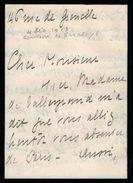 VP11.774 - Noblesse - LAS - Lettre De Mme La Comtesse De SARDELYS à PARIS - Autographs