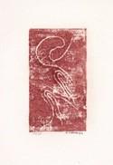 Daniel Vignal - Génuflexion 3 - Bois Gravé - 9 X 14,5 Cm Sur Feuille Canson 24 X 32 Cm, 1974 - Engravings