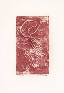 Daniel Vignal - Génuflexion 3 - Bois Gravé - 9 X 14,5 Cm Sur Feuille Canson 24 X 32 Cm, 1974 - Gravures