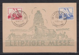 DDR MiNo. 282/83 Auf Sonderkarte Leipziger Messe Mit SSt Leipzig C1 Parkhotel - Covers & Documents