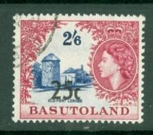 Basutoland: 1961   QE II - Pictorial - Surcharge   SG66b   25c On 2/6d  [Type III] Used - 1933-1964 Kronenkolonie