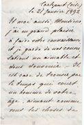 VP11.777 - Noblesse - LAS - Lettre De Mr Le Baron De WINSPEARE à CARLEPONT ( Oise ) - Autographs