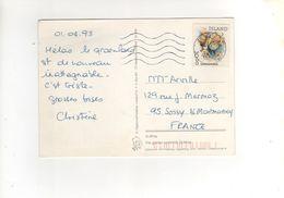 Beau Timbre  Sur Carte , Postcard Du 02/04/1993 - 1944-... Republique