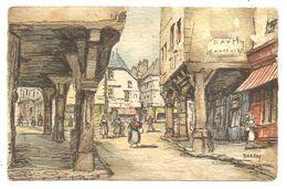 DINAN - Vieilles Maisons De La Rue Des Cordeliers - (signée : Barday) -  (B.D. 3016 B) - Dinan