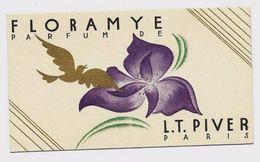 Carte Parfumée - L.T. PIVER - FLORAMYE - Calendrier 1938 - TBE - Anciennes (jusque 1960)