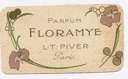 Carte Parfumée - L.T. PIVER - FLORAMYE - Calendrier 1916 - TBE - Anciennes (jusque 1960)