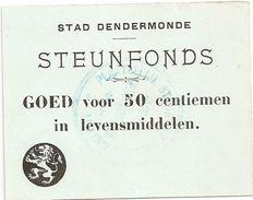 Noodgeld - Argent De Nécessité - Dendermonde - [ 3] German Occupation Of Belgium