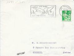 JURA 39  -- LES ROUSSES  - FLAMME N° 1189   - VOIR DESCRIPTION  -  1962 - - Postmark Collection (Covers)