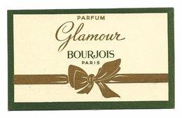 Carte Parfumée  -BOURGEOIS, Paris - GLAMOUR - TBE - Anciennes (jusque 1960)