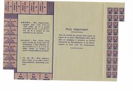 Carte D'habillement - 1939-45