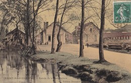 Carte 1908 SAINT SAUVEUR / ENTREE DE LA MANUFACTURE D'ALLUMETTES - Autres Communes
