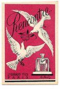 Carte Parfumée  - J. GIRAUD - RENCONTRE - TBE - Anciennes (jusque 1960)