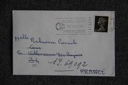 Lettre De LONDRES Vers Secteur Postal 69.092 - Marcofilie