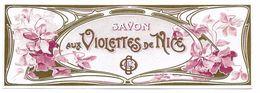 ETIQUETTE - SAVON AUX VIOLETTES De NICE - TBE - Labels