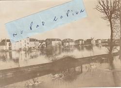 JUVISY SUR ORGE   - Inondations Janvier 1910  ( Photo  ( 8,3 Cm X 11,4 Cm ) - Places
