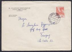 Yugoslavia 1960 Letter With Machine Stamp - 1945-1992 Socialist Federal Republic Of Yugoslavia