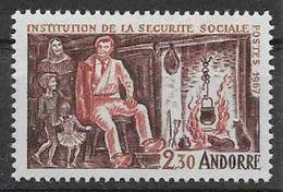 1967 ANDORRE Français 183** Sécurité Sociale, Chat - French Andorra