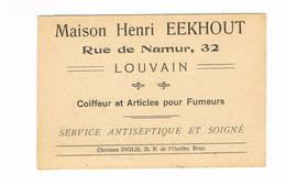 LEUVEN Maison Henri Eekhout Coiffeur 6cm Op 9 Cm Visitekaartje - Leuven