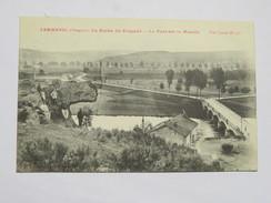 C.P.A. 88 JARMENIL : La Roche Du Crapaud, Le Pont Sur La Moselle, Animé, En 1916 - Autres Communes