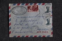Lettre De MADAGASCAR (Hotel AMBALAVAO ) Vers TANANARIVE . - Madagascar (1889-1960)