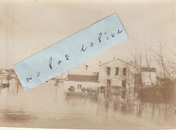 JUVISY SUR ORGE   - Inondations Janvier 1910  ( Photo  8,3 Cm X 11,5 Cm ) - Places