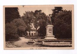 Cpa ALES Le Jardin Public - Alès