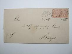1871 , ROSTOCK , Klarer Stempel Auf Brief - Mecklenburg-Schwerin