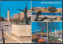 °°° GF492 - GREECE - ALEXANDROUPOLIS - VIEWS OF THE TOWN - With Stamps °°° - Grecia